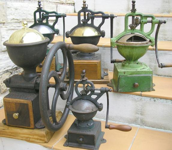 Ma collection de moulins à café, épice, farine