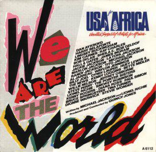 MICHAEL JACKSON AND FRIENDS - WE ARE THE WORLD (Vinyle 45 tours) (1985)