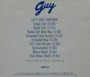 GUY - LET'S STAY TOGETHER (Maxi CD promo) (1991)