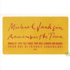 MICHAEL JACKSON - REMEMBER THE TIME (Double Maxi vinyle promo) (1991)