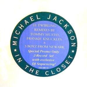 MICHAEL JACKSON - IN THE CLOSET (Double Maxi vinyle promo) (1991)