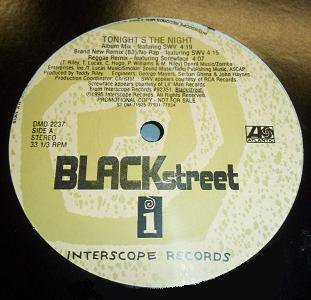 BLACKSTREET - TONIGHT'S THE NIGHT (Maxi vinyle promo) (1995)