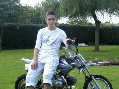 Jordan et sa moto