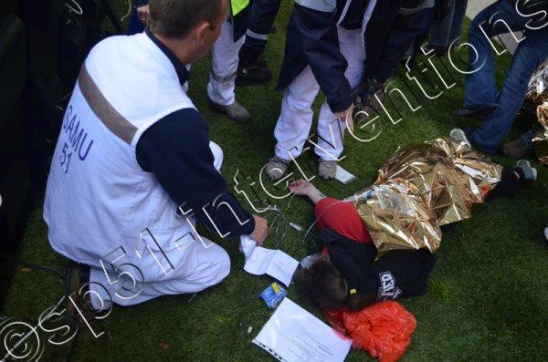 SAMEDI 13 JUIN 2015 - DEUX PIETONS BLESSES RUE FOLLE PEINE A REIMS