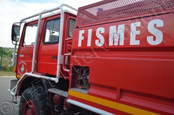 MERCREDI 17 JUIN 2015 - UN FEU DE CARAVANE SE PROPAGE A FISMES