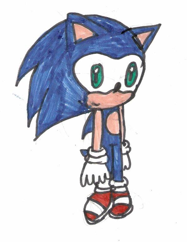 Mon premier dessin de Sonic... *fuis*