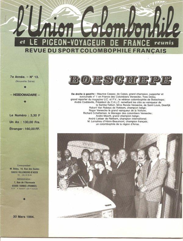 le calc BOESCHEPE début 1984     souvenirs ................