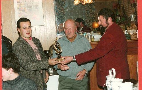Olivier VANENGELANDT , son Papa Sylvére et le Président de 1990 Serge CARDON
