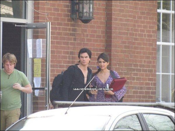 .      25/02 : Ian & Nina étaient sur le tournage de l'épisode 18 de Vampires Diaries.  .  Ajoutes-moi à tes amis ♥ - ajoute-moi dans tes favoris ♥ - Newsletter ♥  .