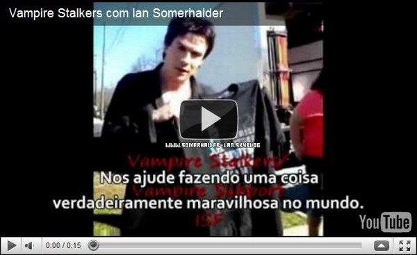 """. 25/02 : Ian a fait la promotion de son tee-shirt pour """"Vampire Support""""sur le set de Vampire Diaries. . Ajoutes-moi à tes amis ♥ - ajoute-moi dans tes favoris ♥ - Newsletter ♥ ."""