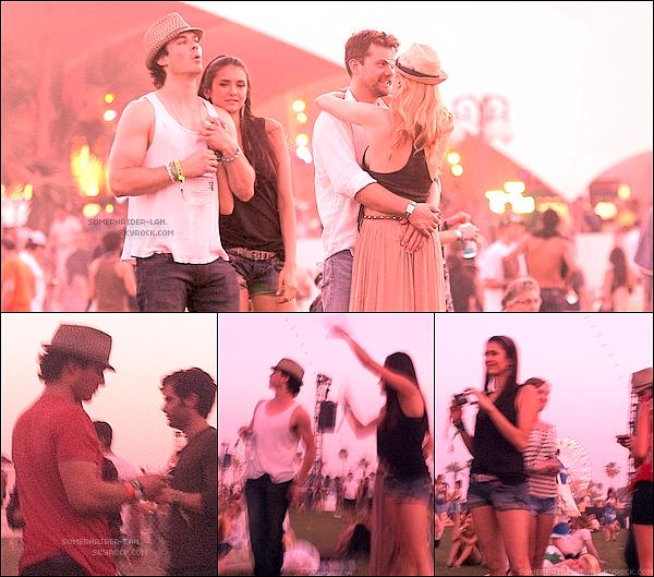 """. 16 & 17 avril : Ian et Nina étaient en californie au festival annuel de musique de la vallée de Coachella et au """"Armani Exchange Brunch Celebrating"""" .     .    Ajoutes-moi à tes amis ♥ - ajoute-moi dans tes favoris ♥ - Newsletter ♥"""