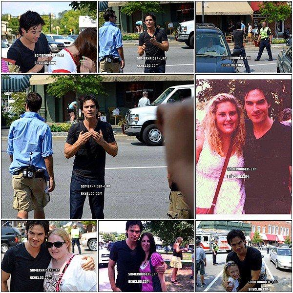 Voici des photos de Ian sur le tournage de la saison 3 de Vampire Diaries.          Ajoutes-moi à tes amis ♥ - ajoute-moi dans tes favoris ♥ - Newsletter ♥
