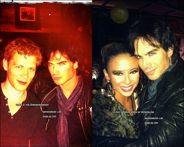 "30 octobre Ian et le Cast de TVD étaient à ""Halloween Party ISF Empoveresque "".     Ajoutes-moi à tes amis ♥ - ajoute-moi dans tes favoris ♥ - Newsletter ♥"
