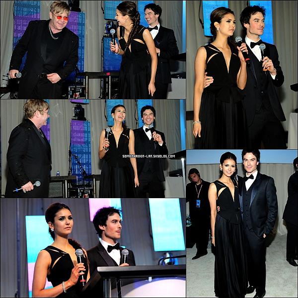 26 Février 2012 : Ian & Nina étaient au 20th Annual Elton John AIDS Foundation Academy Awards . Ajoutes-moi à tes amis ♥ - ajoute-moi dans tes favoris ♥ - Newsletter ♥