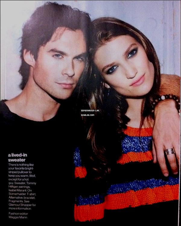 """Avril 2012  : Découvre un nouveau shoot de Ian pour le magazin """" Glamour """" . Ajoutes-moi à tes amis ♥ - ajoute-moi dans tes favoris ♥ - Newsletter ♥"""
