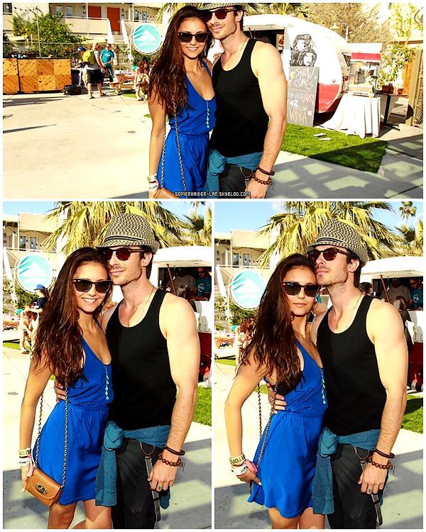 14 avril 2012 : Ian & Nina étaient à la Coachella Pool Party en Californie . Ajoutes-moi à tes amis ♥ - ajoute-moi dans tes favoris ♥ - Newsletter ♥