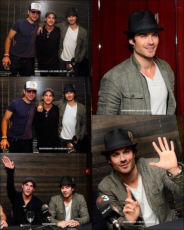 5 Mai 2012 : Ian & ses co-stars de TVD étaient à la conférence de Presse sur la convention ' Bloody Night '. Ajoutes-moi à tes amis ♥ - ajoute-moi dans tes favoris ♥ - Newsletter ♥
