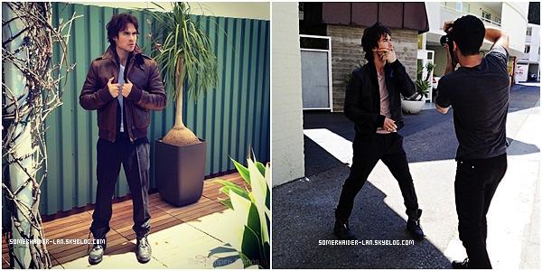 """8 juillet 2012 : Ian se rendait sur le tournage de la saison 4 de TVD + Des photos du shoot de """" Defy Magazine """" Ajoutes-moi à tes amis ♥ - ajoute-moi dans tes favoris ♥ - Newsletter ♥"""