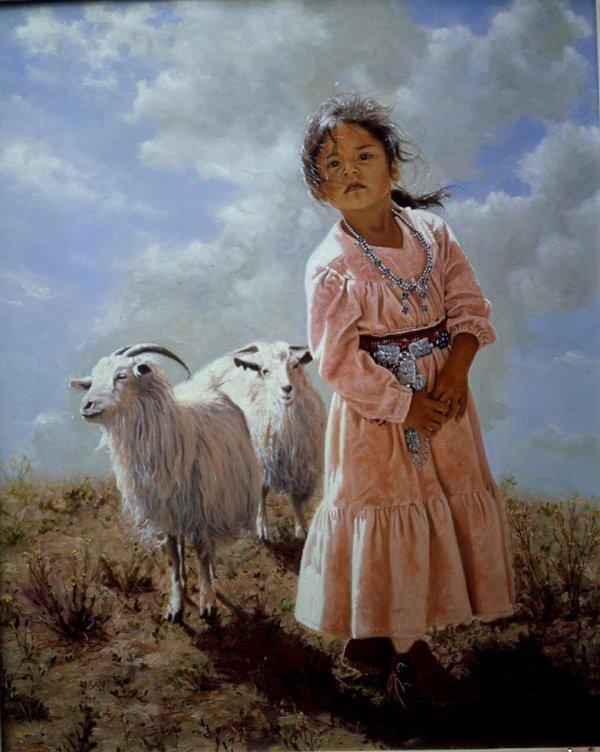 Jeune fille Navajo.