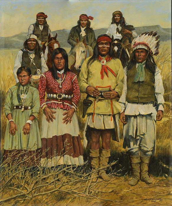 Groupe d'Apaches.