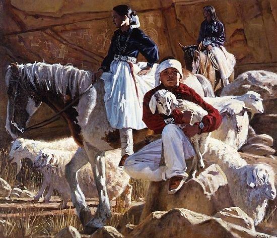 Gardien de troupeaux Navajos.