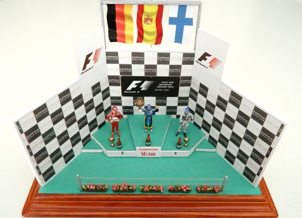 Podium Alonso / Schumacher / Raikkonen
