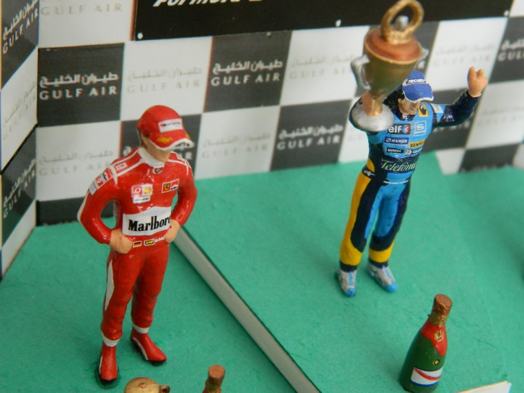 Podium Alonso / Schumacher / Raikkonen