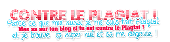 CONTRE LE PLAGIAT !!!!!!!