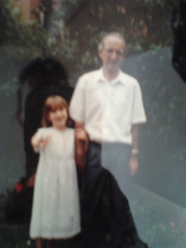 Au jardin, avec mon papa