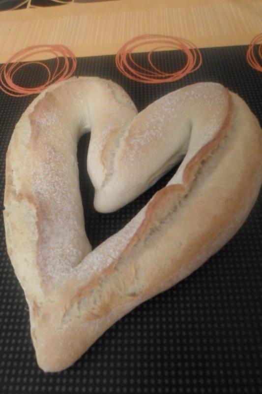st valentin coeur en pain