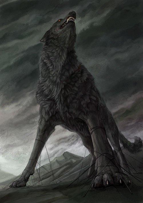 Fenrir le loup gigantesque