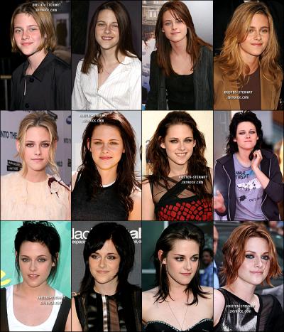 Cheveux de Kristen Stewart