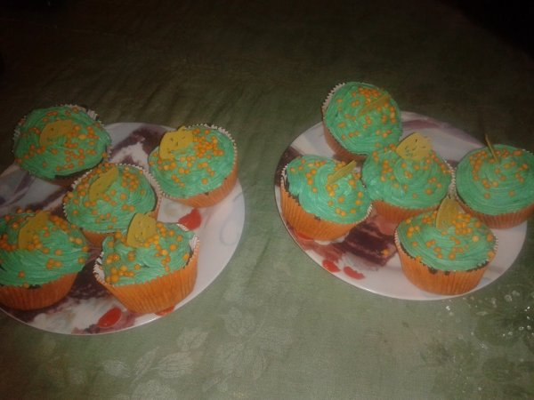 Cup-cakes pour Halloween!
