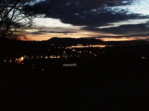 vue de st-die depuis un petit village