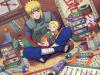 Minato et Naruto à la bilbliotèque ^^