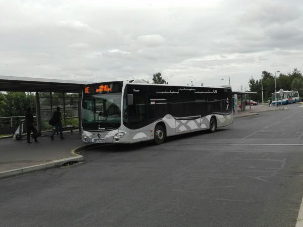 Citaro C2 n°71927 sur la ligne RE de Sénart Bus (Transdev Lieusaint)