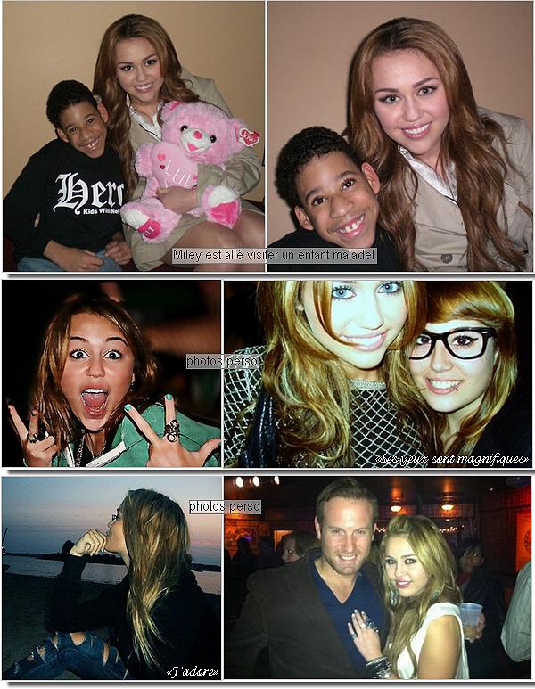 ' Photos : Miley pose avec des fans ainsi que quelques photos perso de la Miss! J'ai mis un nouvel habillage pour la St-Valentin, vous aimez? '