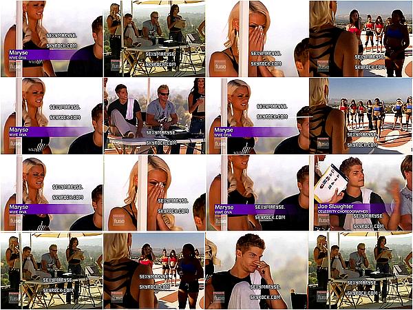_♦ 2008 - REDEMPTION SONG ___________________________________________________________________________APPARITION TV Maryse et apparus dans l'émissions Rédemption Song une émissions a la recherche de nouveaux talents dans le troisième épisodes, elle était accompagné de Eve Torres et Chris Jerricho. Sur les photos il y a mon ancien pseudo, je ne trouve plus les photos donc je laisse celle ci.
