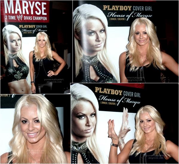 _♦ 4 SEPTEMBRE 2014 - HOLLYWOOD SHOW __________________________________________________________CANDID CONVENTION Notre belle Maryse était au Hollywood Show pour signé quelque orthographe et prendre quelque photos avec les fans. Une convention au qu'elle Maryse participe énormément.