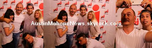 27/06/2014 - Austin Mahone était présent chez Cauet le 26/06 sur NRJ