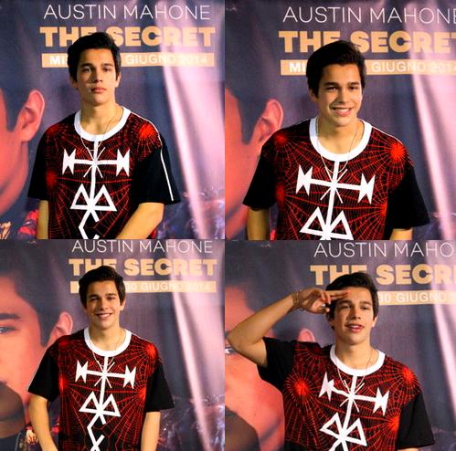1/07/2014 - Austin Mahone était en Italie.