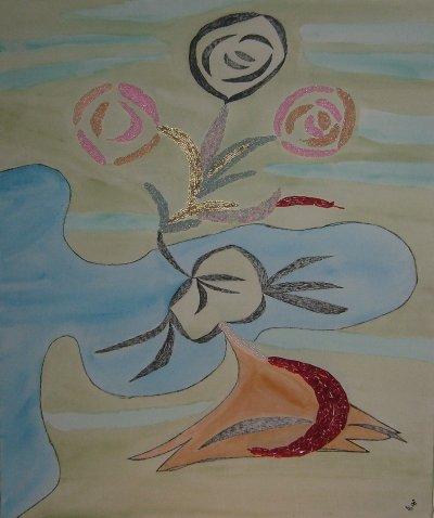 la rose dans le vent