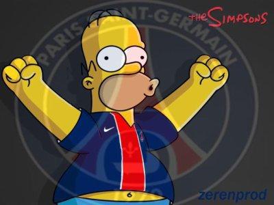 homer supporter du PSG
