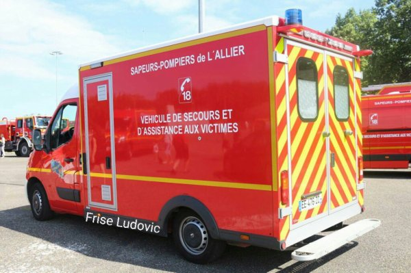 VSAV 1 vue arrière du CSP de Moulins