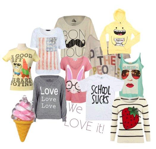Sélection de tee-shirts :)