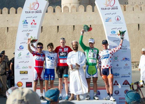 Tour d'Oman 2013 : podium de la 4eme étape...