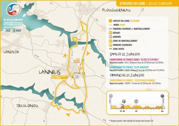 Championnat de France de cyclisme sur route 2013 : le parcours de la course en ligne