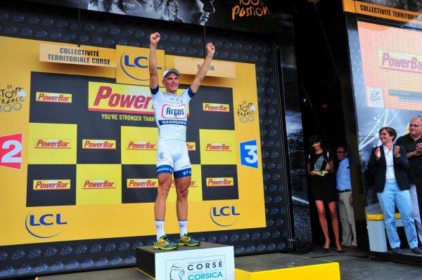 Tour de France 2013 (1ere étape Porto-Vecchio / Bastia): Marcel Kittel  vainqueur d'étape et premier maillot jaune du Tour de France...