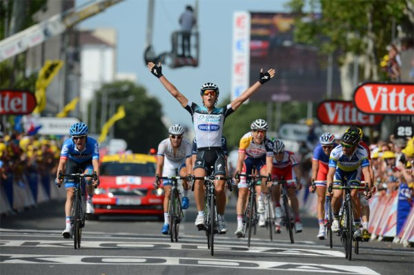Tour de France 2013 (14ème étape : Saint-Pourçain-sur-Sioule / Lyon) : Matteo Trentin vainqueur, au terme de la première échappée qui arrive à bon port...