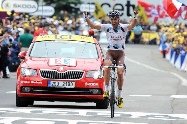 Tour de France 2013 (18eme étape Gap / l'Alpe d'Huez) : Magnifique victoire du français Christophe Riblon au sommet de l'Alpe...